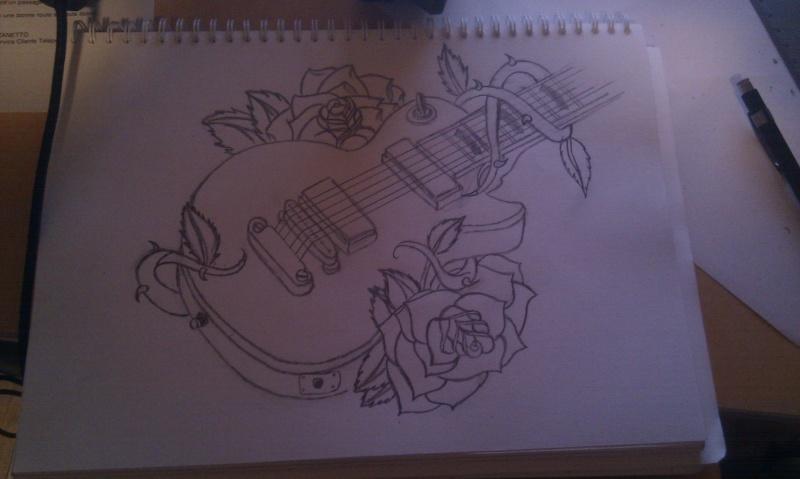 guitare aux fleurs Imag0111