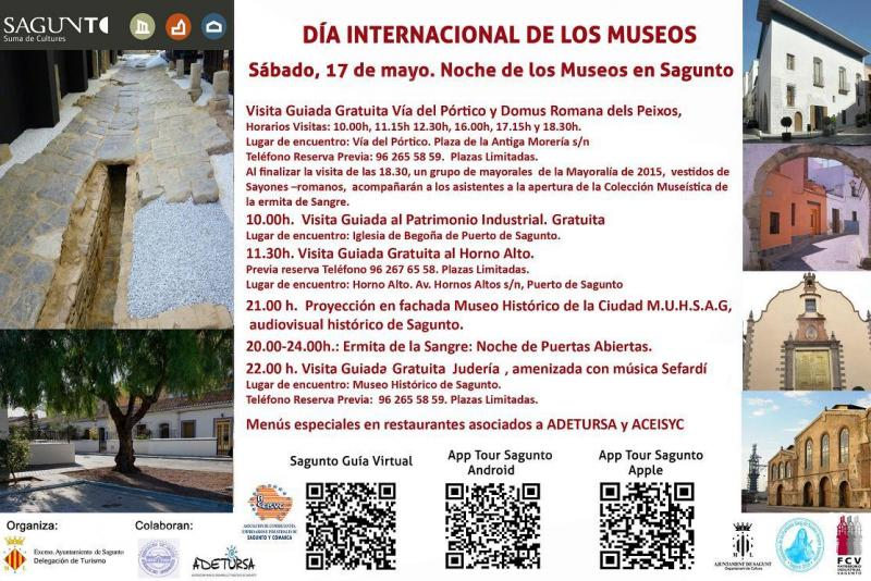 SAGUNTO. VALENCIA.  ACOGE UNA NUEVA EDICIÓN DE LA NOCHE DE LOS MUSEOS. Sábado 17 de mayo de 2014. Cartel10