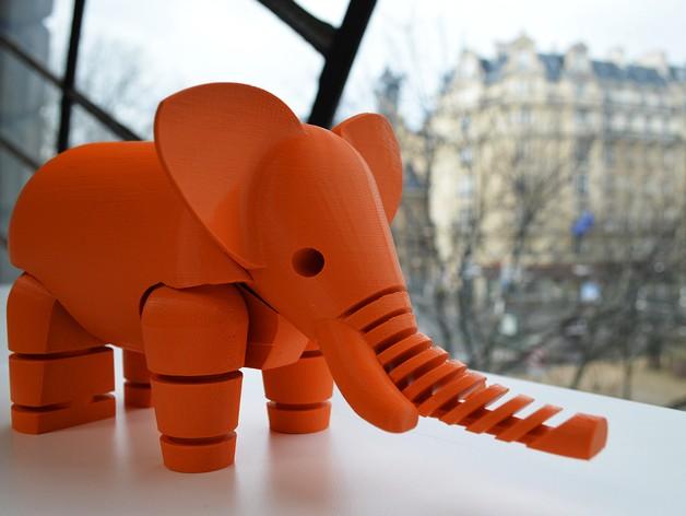 sculpture en ABS, impression 3D, modélisation 3D Elepha10