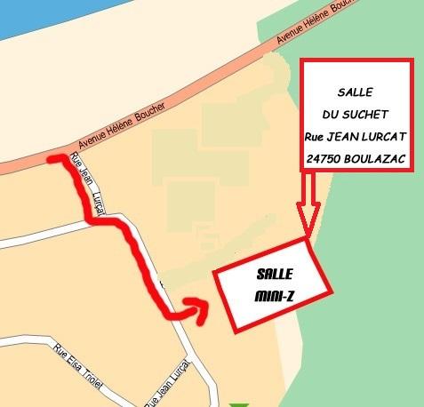 Course amicale du Mini Z 24 à Boulazac les 15 et 16 Mars 2014 Plan1m10