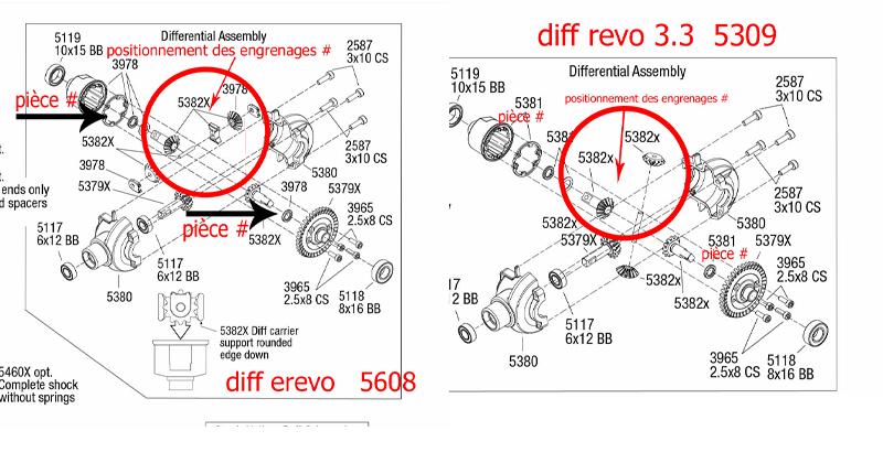 Différences entre E-Revo Brushed TRA5603 et E-Revo Brushless TRA5608 - Page 3 Compar11