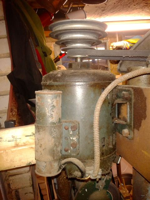 Making a generator for the Lister B - I have an old motor is it suitable? 2014-018