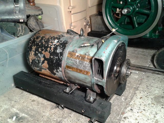 Making a generator for the Lister B - I have an old motor is it suitable? 2014-023