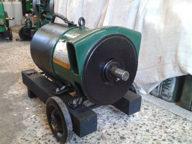 Making a generator for the Lister B - I have an old motor is it suitable? 2014-033