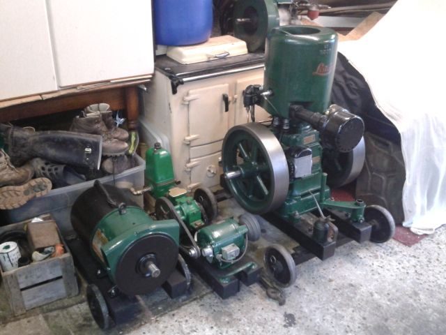 Making a generator for the Lister B - I have an old motor is it suitable? 2014-034