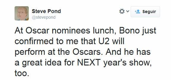 Gli U2 si esibiranno agli Oscar Imagem11