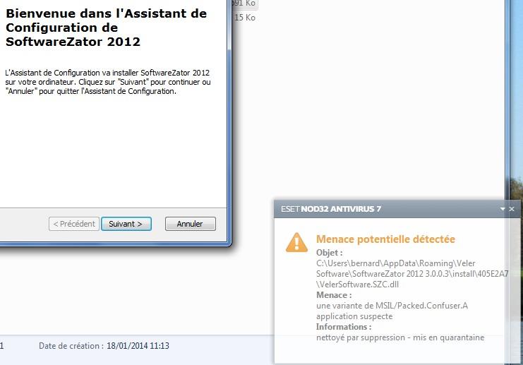 Nod32 bloque un fichier dll  pendant l'extraction des fichiers  pour  l'installation de SoftwareZator2012  Sans_t11