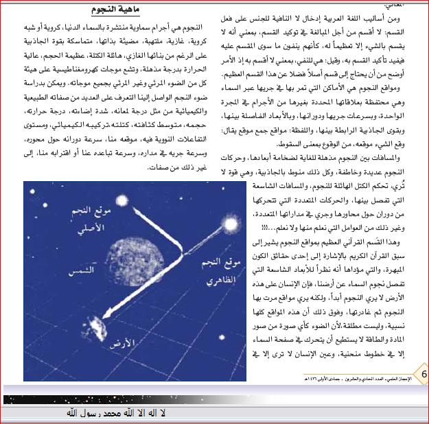 الاعجاز القرآنى فى قوله تعالى(فلا اقسم بمواقع النجوم)بقلم الدكتور زغلول النجار الجزء الاول 338