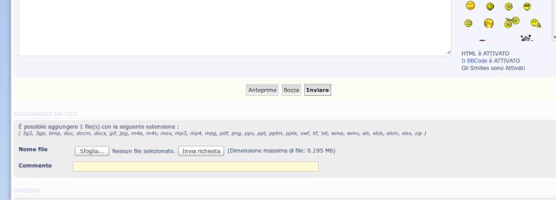 Da oggi potete allegare direttamente sul forum file di nuovi formati Pota110