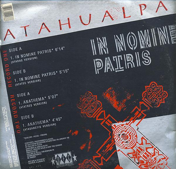 ATAHUALPA '' In Nomine Patris & Anathema '' 1993 (2x12'') Atahua11