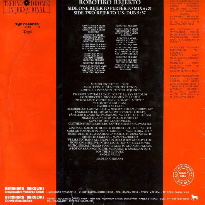 ROBOTIKO REJEKTO - REJEKTO(1987) Contra10
