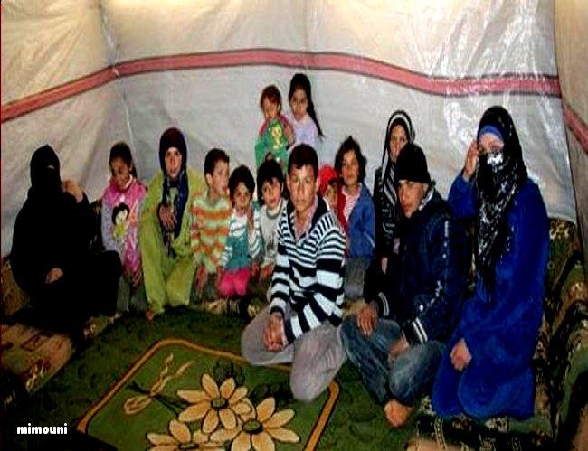 La misère et l'armée Algerienne s'acharnent sur les Syriens  enfin réfugiés au maroc Mimoun11
