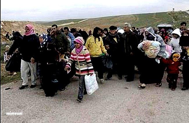 La misère et l'armée Algerienne s'acharnent sur les Syriens  enfin réfugiés au maroc Mimoun13