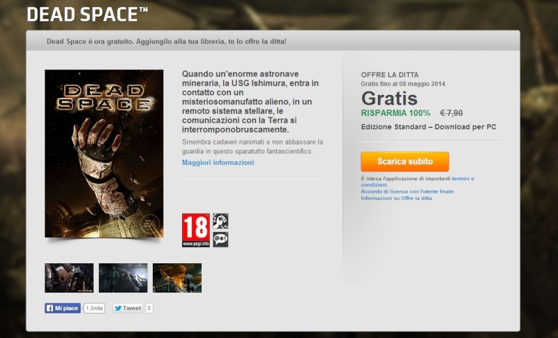 Dead Space gratuito su Origin fino all'8 Maggio Dead_s10