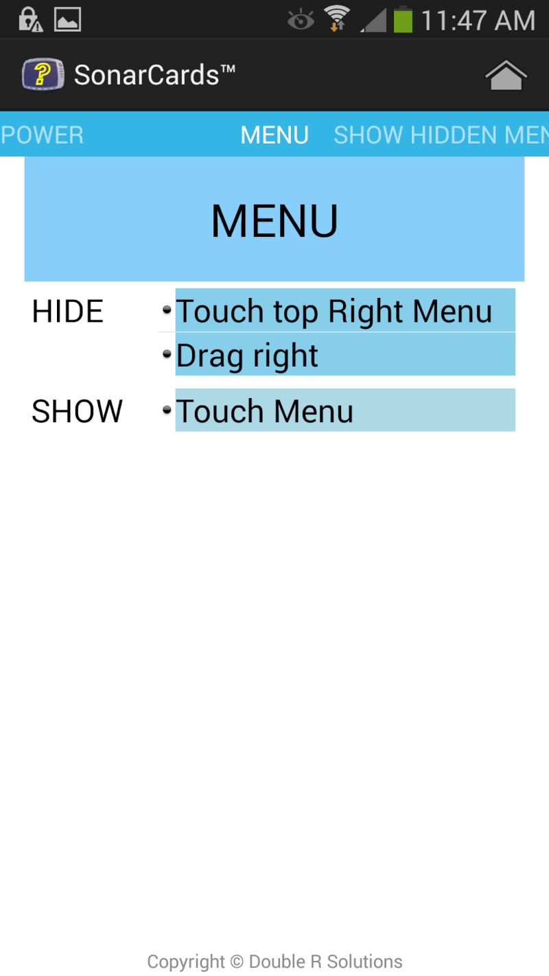 SonarCards - Help on what to do for Sonar/GPS Units Screen12