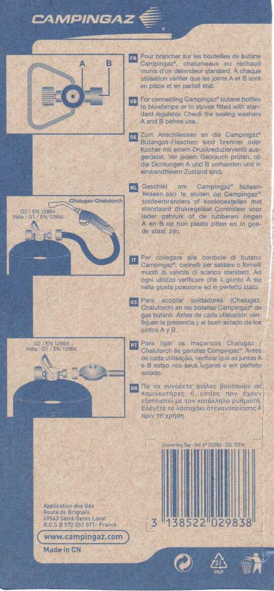 Montage gaz sur MP Viano 2011 livré sans bouteille/robinet Robine11