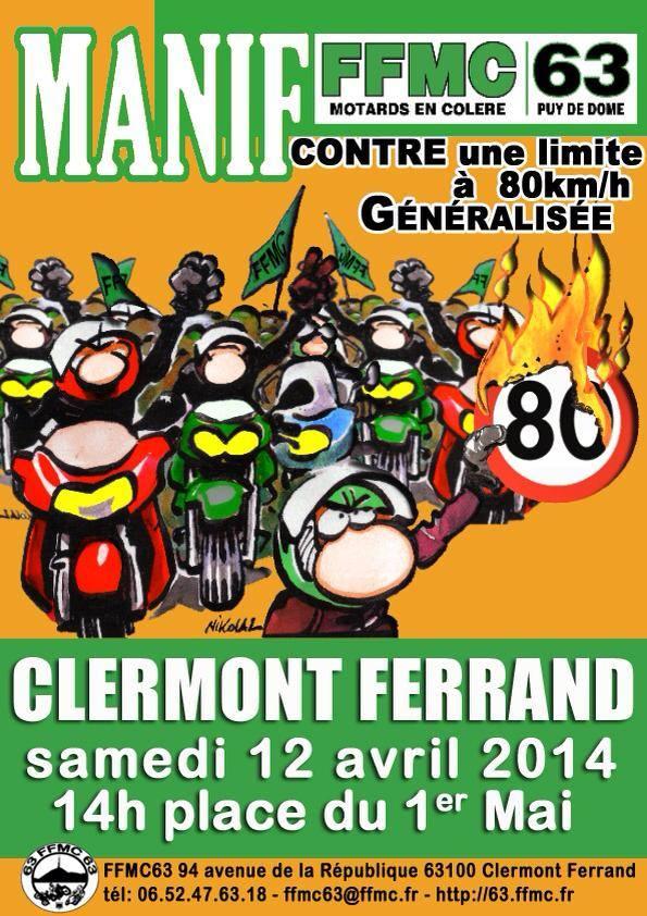 Limitation à 80 km/h : manifs FFMC les 12/13 avril 2014 Manif10