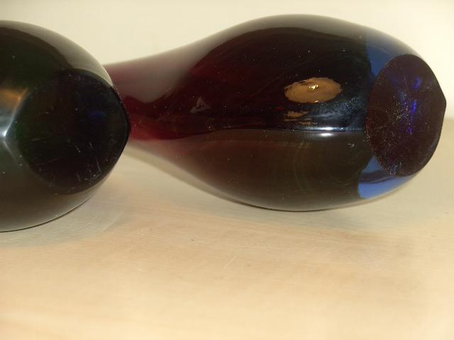 2 waterdrop shaped vases, Sweden ??? Druppe13