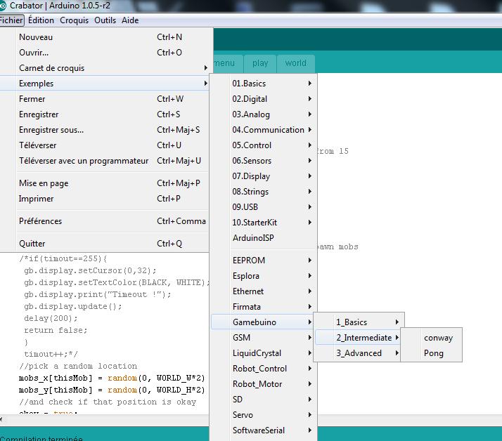 [TUTOGAMEBUINO] Programmation Gamebuino - Mon 1er programme Exampl11