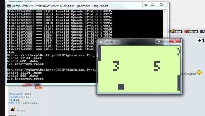 [TUTOGAMEBUINO] Programmation Gamebuino - Mon 1er programme Gbsim10