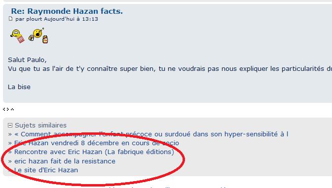 Raymonde Hazan facts. Sans_t10