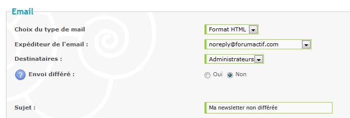 Nouvelle fonctionnalité : Programmez votre newsletter Tut510