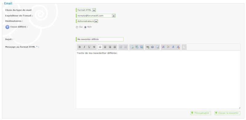 Nouvelle fonctionnalité : Programmez votre newsletter Tut_110