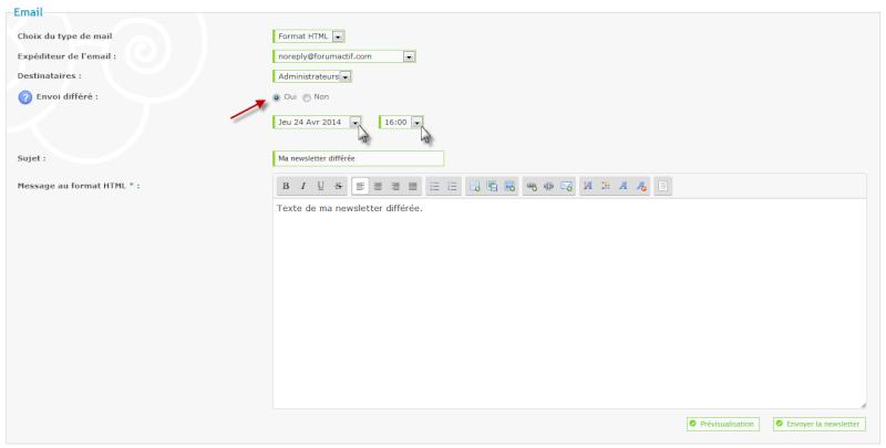 Nouvelle fonctionnalité : Programmez votre newsletter Tut_210