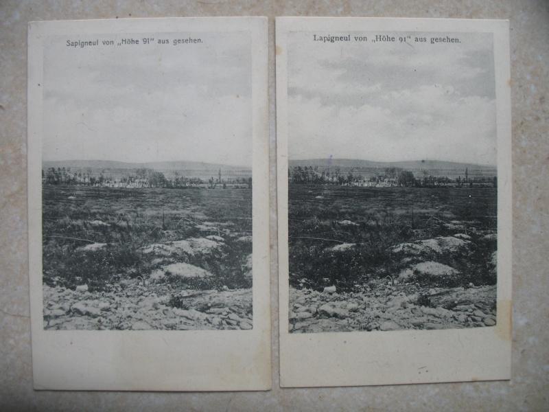 Vue allemande sur Sapigneul détruit Sapign10