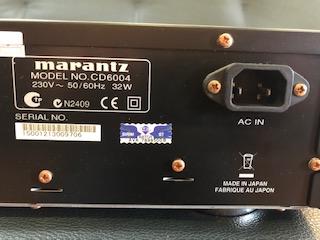 Marantz Cd Player/ Made In Japan (USED) Image316