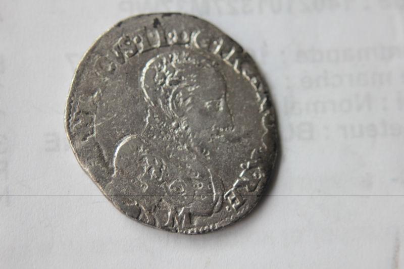 Teston 3ème type tête nue au nom d'Henri II 1559 K Franao10