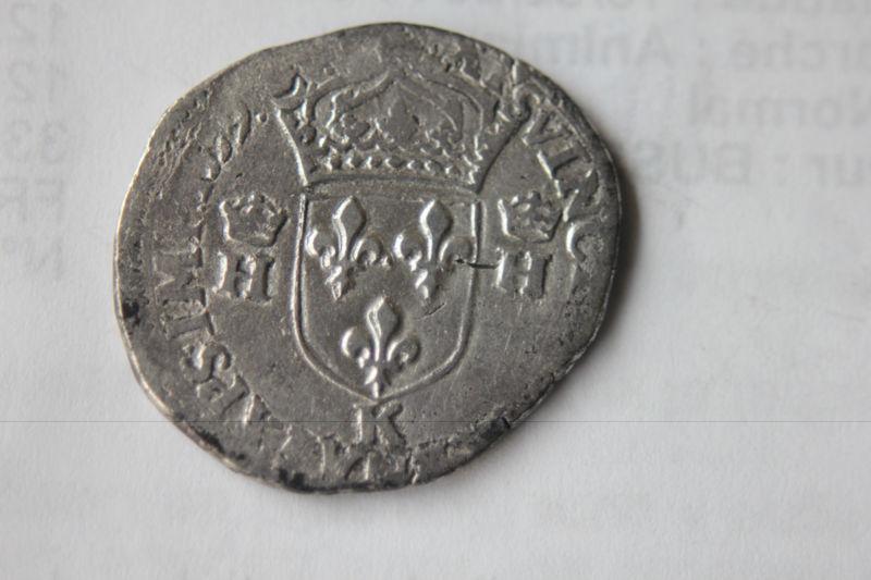 Teston 3ème type tête nue au nom d'Henri II 1559 K Franao11
