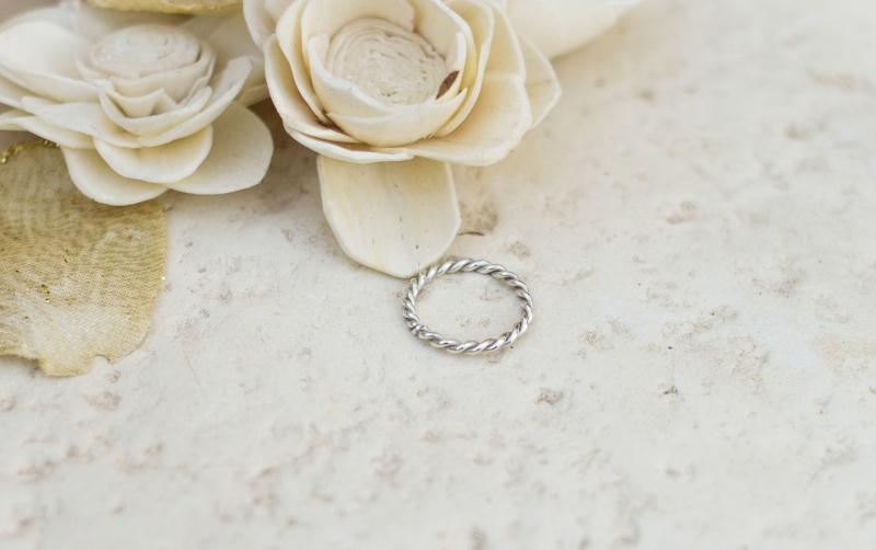 Anello attorcigliato in argento 925 Fed_at10