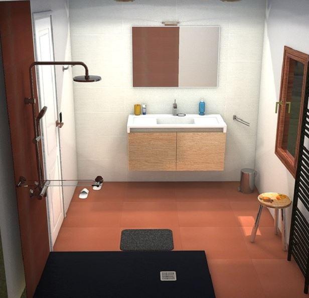 salles de bains ocre blanc noir bleu choix du rideau des meubles et accessoires merci Sbocre10