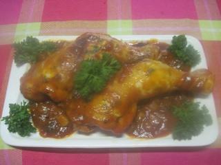 Cuisses de poulet sauce tomates et céleri + photos. 10411310