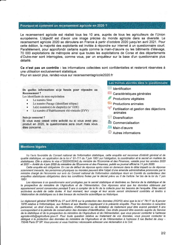Enquête  Le recensement agricole démarre ce 1er octobre 2020 - Page 3 Rcense10