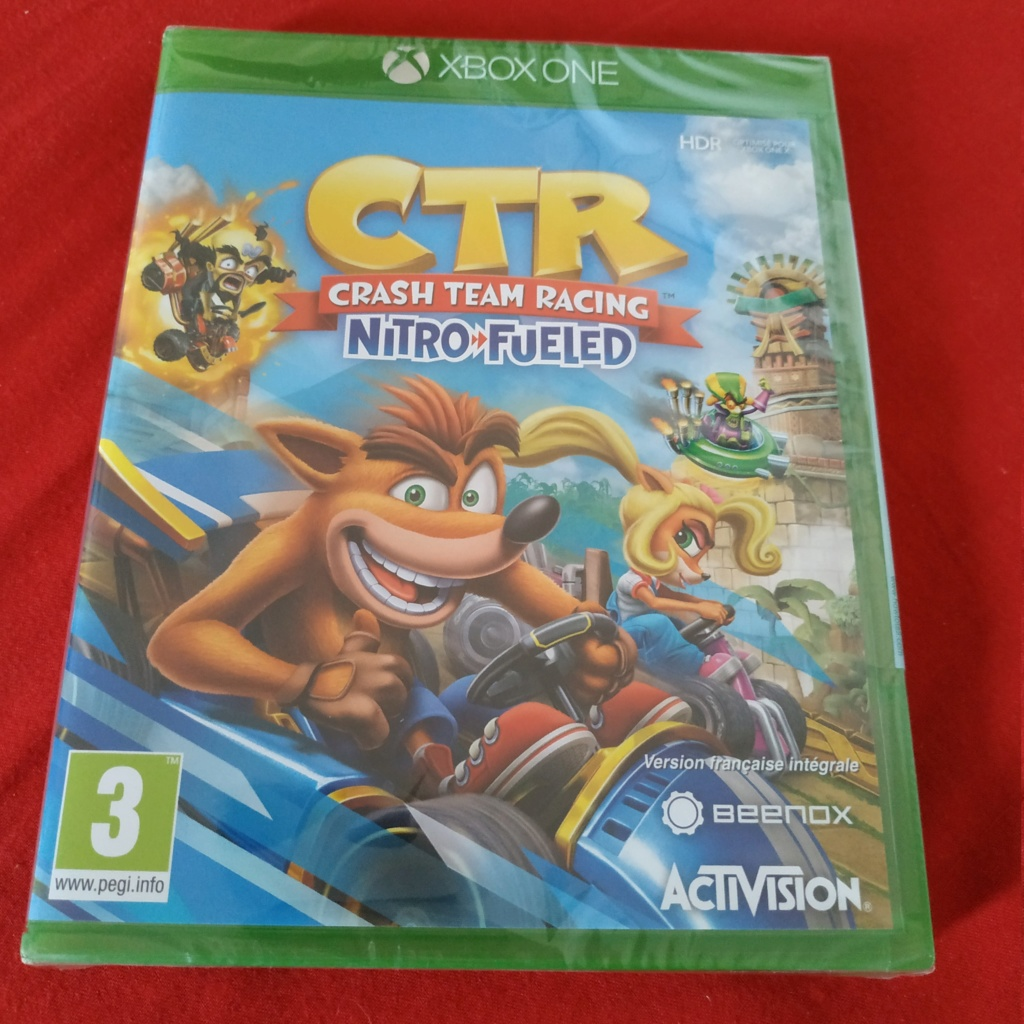VDS // CTR Crash Team Racing NEUF XBOX-ONE 20€ out  Img_2123