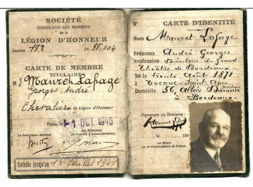 Carte de membre de la légion d'honneur authentique ou non ? D3737b10