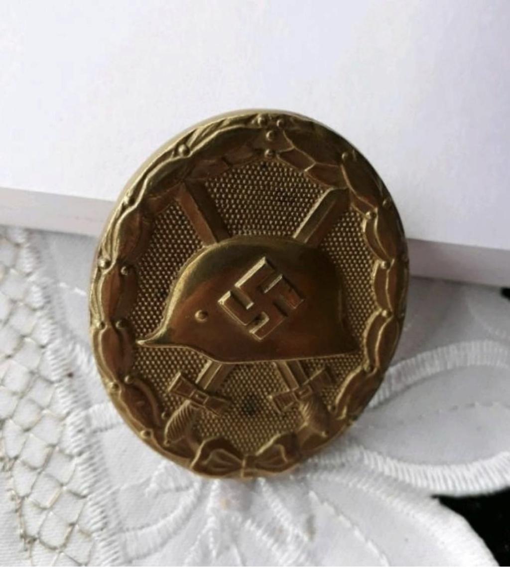 Authentification badge blessés WW2 Or Dd9e8210