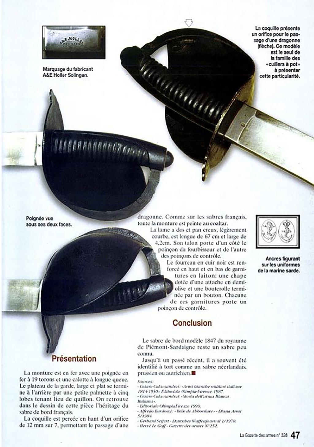Identification d'un sabre de bord Sabre-10