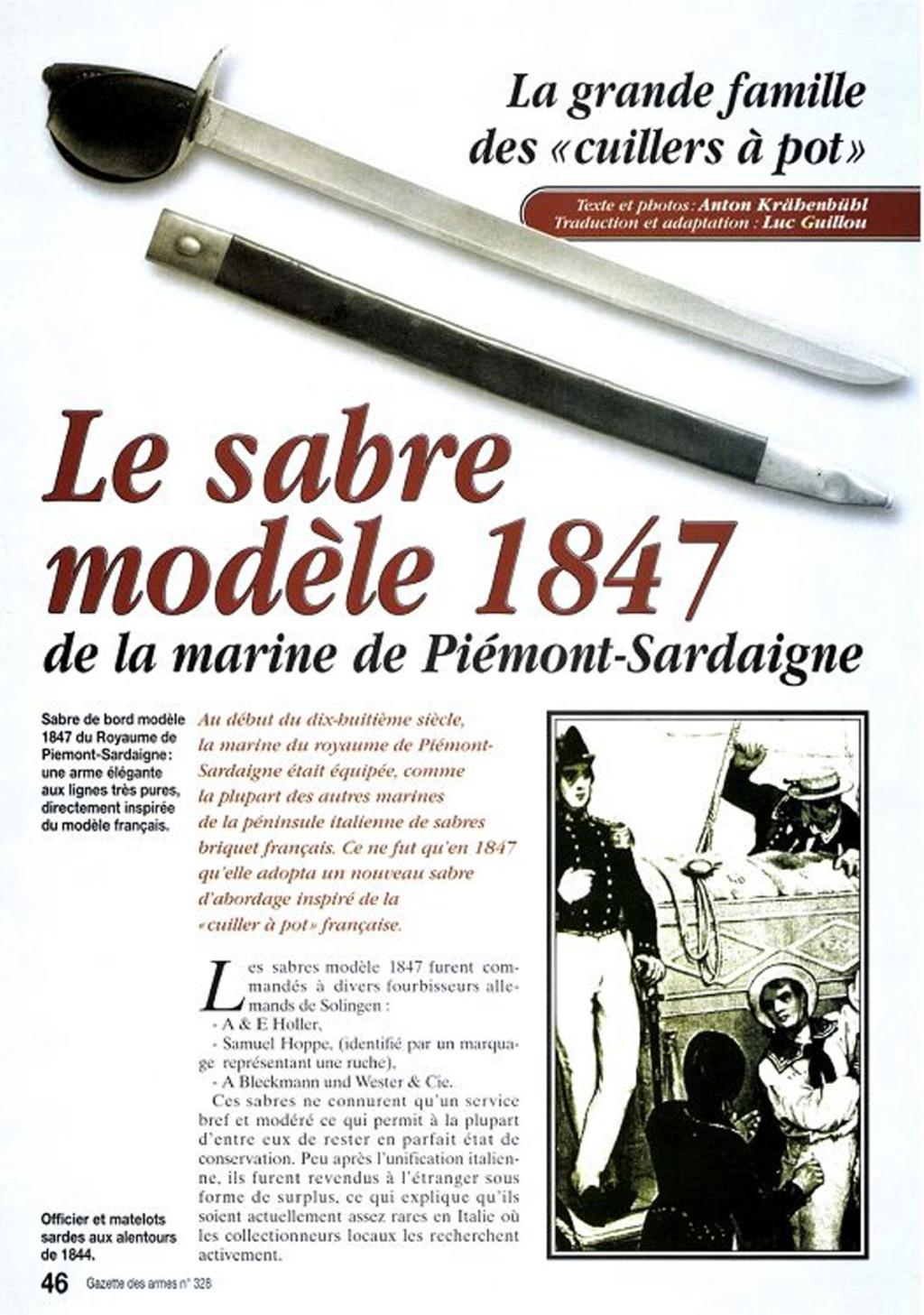 Identification d'un sabre de bord Sabre-11