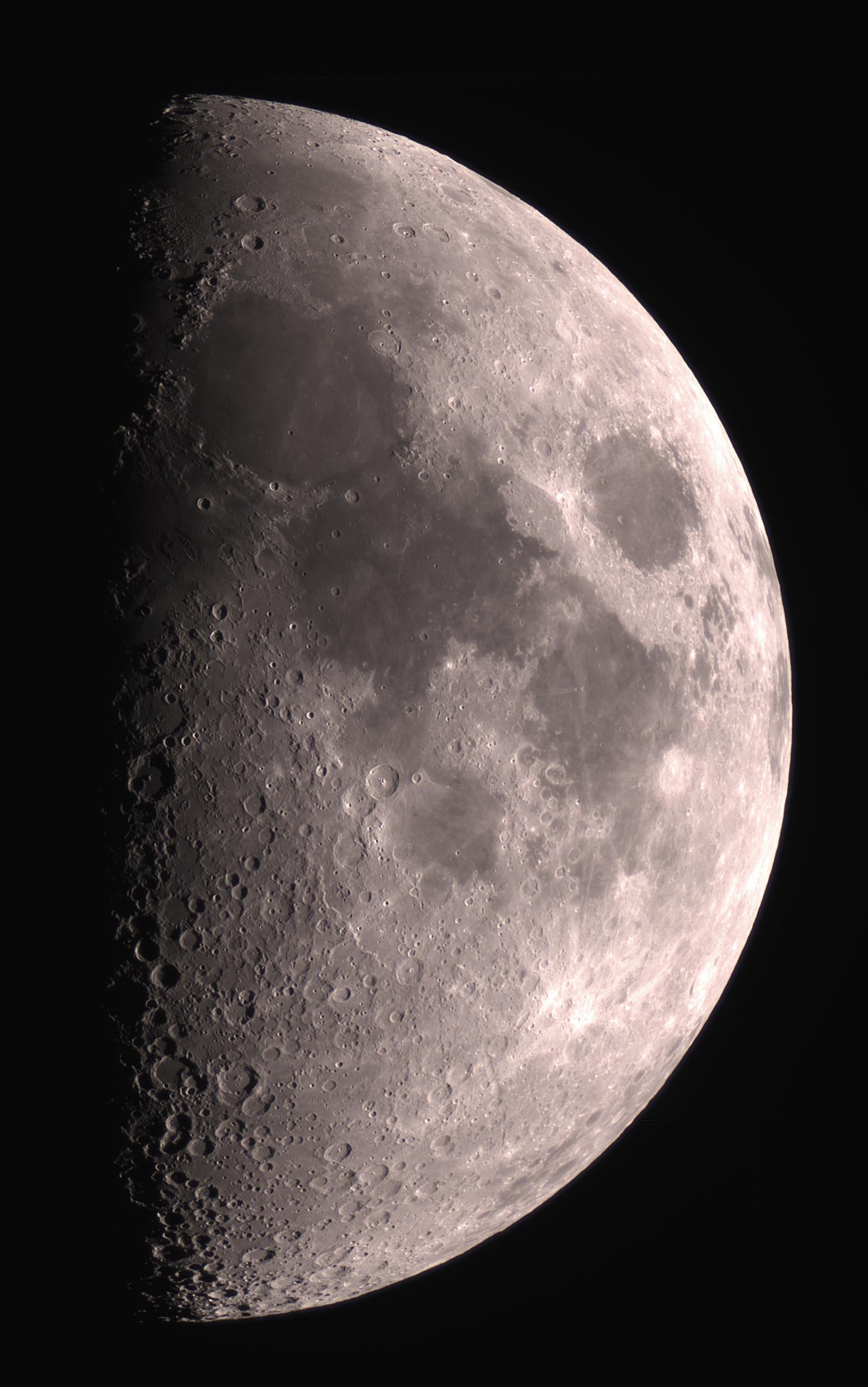 Une mosaïque lunaire, au premier quartier (20 juin 2018) 2018_014