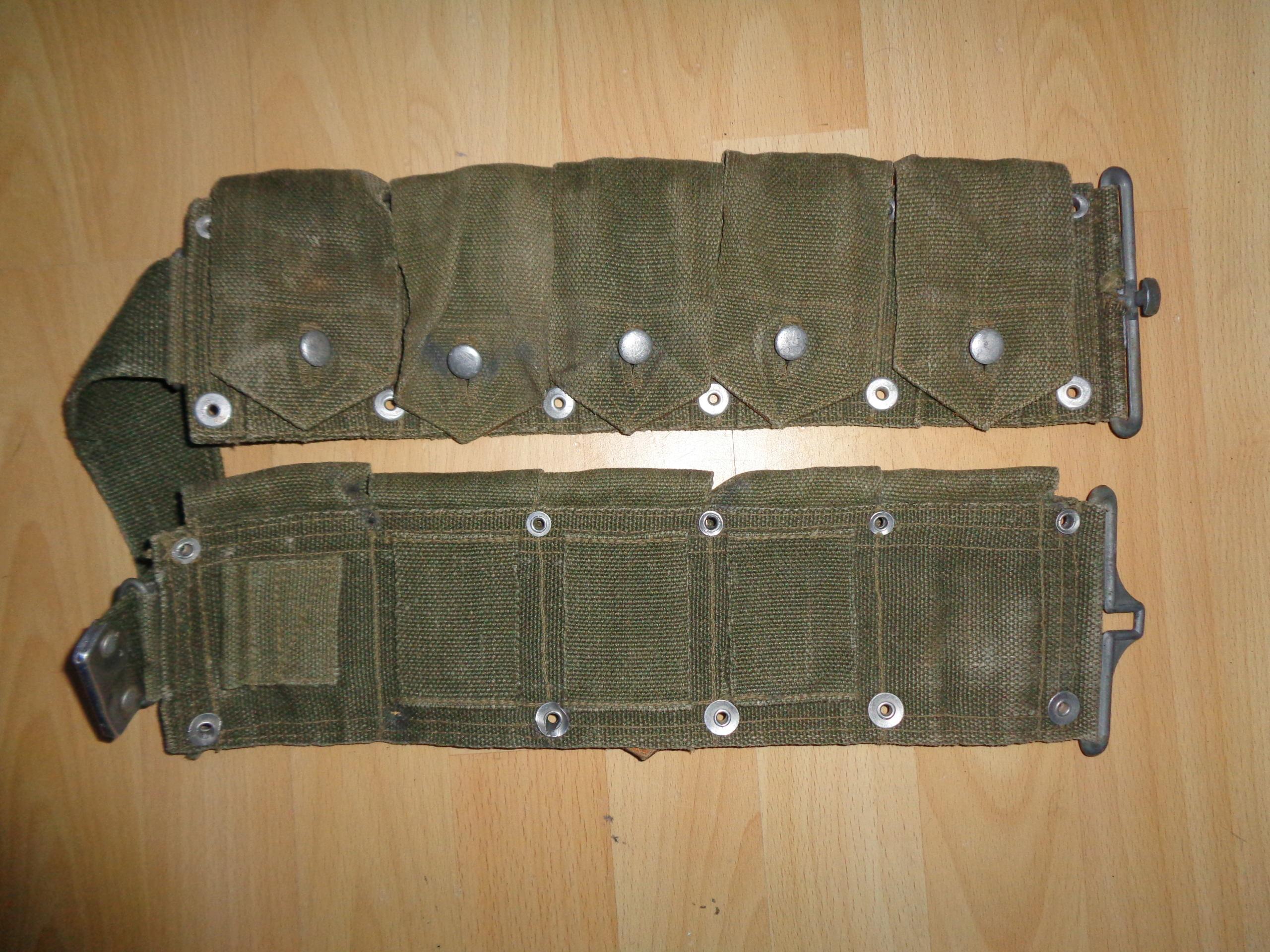 Weird Garand belt, alu-leather flap closures Dsc00814