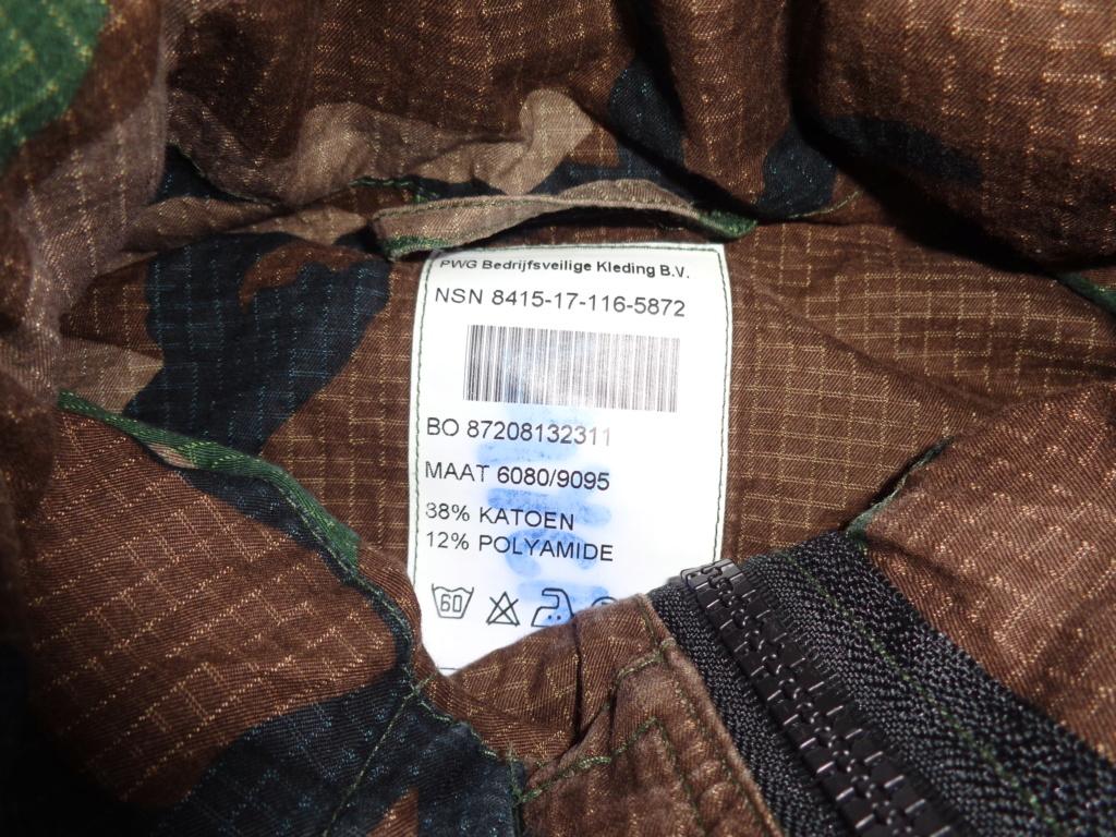 Dutch camo uniforms, newer versions from around 2008 onwards Dsc05529