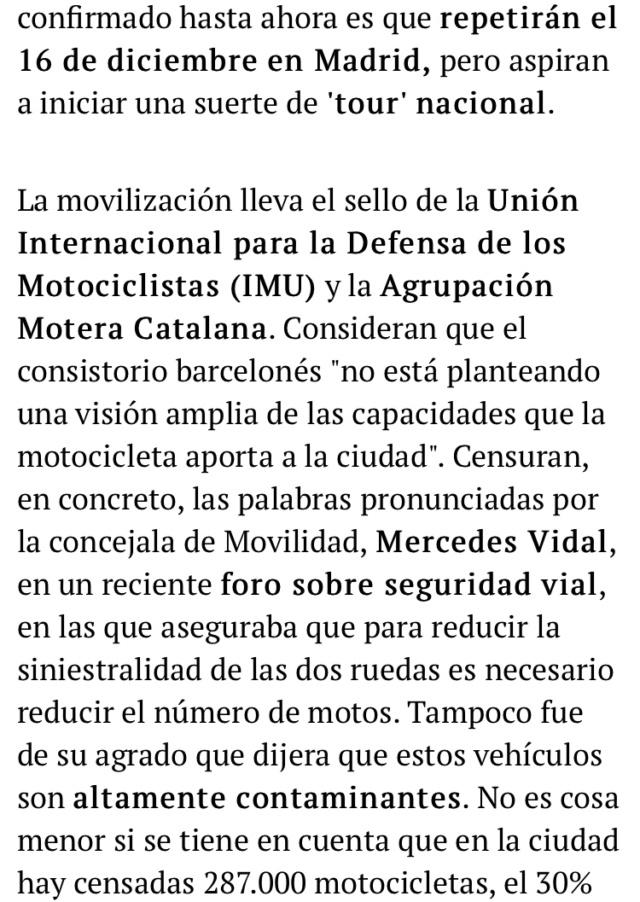 Manifestacion contra la prohibicion de motos en Barcelona  18a8b510