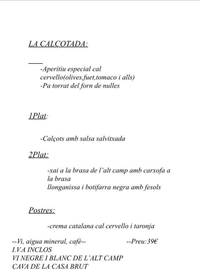 SALIDA CAT ( CALÇOTADA 2020)  Día  Sábado 29 Febrero 2020 2cf49d10