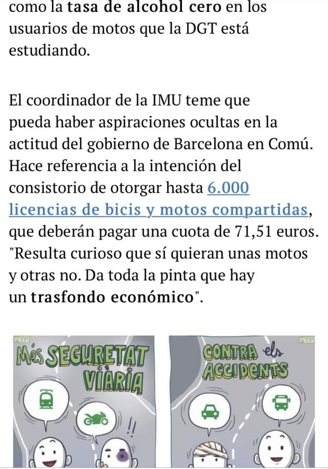 Manifestacion contra la prohibicion de motos en Barcelona  3a6c9710