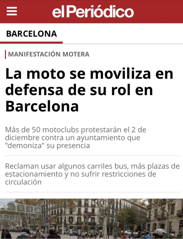 Manifestacion contra la prohibicion de motos en Barcelona  6c0efa10