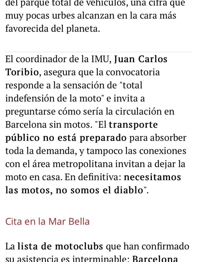 Manifestacion contra la prohibicion de motos en Barcelona  73e73910