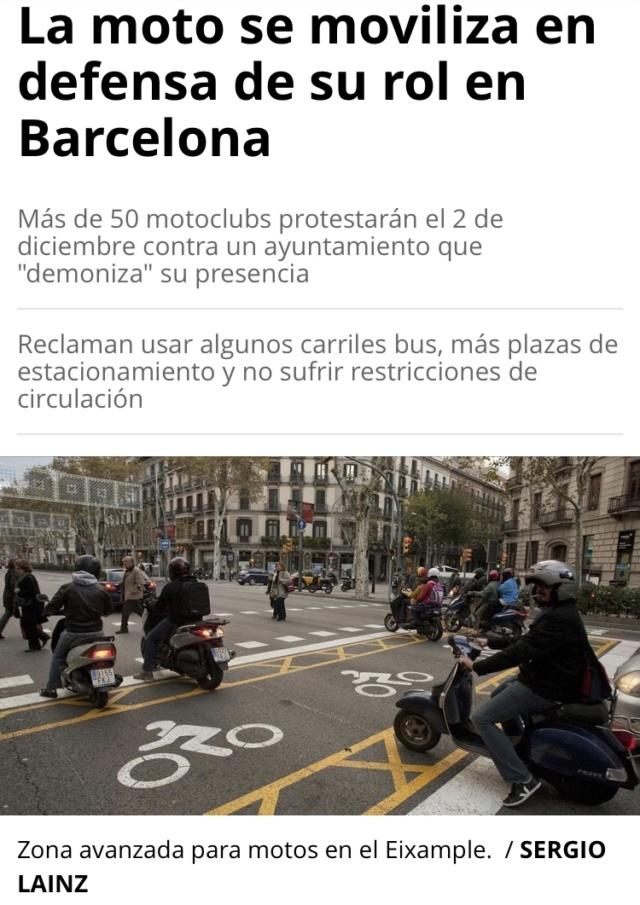Manifestacion contra la prohibicion de motos en Barcelona  Ba1d5210